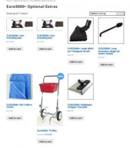 Euro5000 Steam Cleaner extras